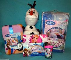 Everything your little girl needs for bedtime. Complete Disney Frozen Bed Set. Cuddle up with Olaf, Elsa, and Anna!