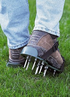 Lawn Aerator Sandals | Gardener's Supply || Lot's of great gardening gear