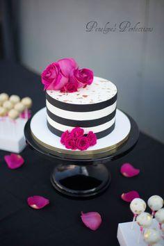 Wedding & Special Event Cakes, Desserts & More! Elegant Wedding Cakes, Cool Wedding Cakes, Beautiful Wedding Cakes, Gorgeous Cakes, Pretty Cakes, 40th Cake, 40th Birthday Cakes, Kate Spade Cake, Gothic Cake