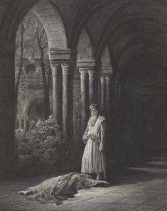 Genièvre #gallica #illustrator #illustrateur #doré Poster Prints, Framed Prints, Canvas Prints, Posters, Lancelot And Guinevere, Legend Stories, King Pic, King Arthur, Dark Art