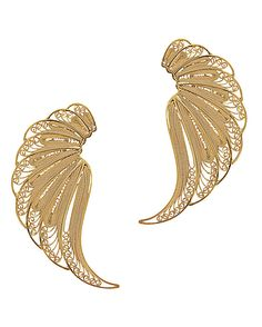 Mallarino Violetta Large Wing Earrings: These elegant earrings are intricately…