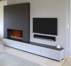 Incredible Fireplace Ideas for Your Best Home Design There are a lot of seasonal and festive fire place mantel suggestions that you can check out as well. Search our ideas for fireplace decorating, fireplace layouts, and also more to locate ideas. Fireplaces Layout, Living Room Decor Fireplace, Fireplace Design, Corner Fireplace Tv Stand, Cool House Designs, Living Room Diy, Modern Fireplace, Contemporary Home Furniture, Living Room Tv Wall