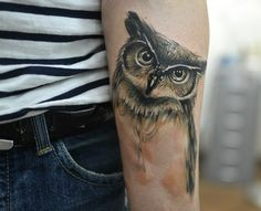 I always see this owl as a sketch on pinterest and always loved him. Seeing him as a tattoo just makes me happy :)