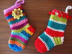 Receitas de Trico e Croche: Como fazer meia crochê infantil