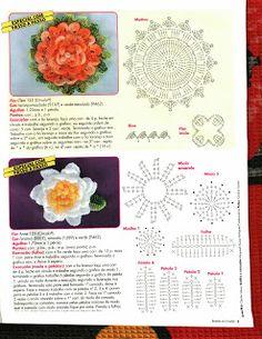 Mania-de-Tricotar: Flores em crochê  http://mania-de-tricotar.blogspot.com.br/