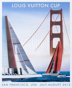 Louis Vuitton Cup - San Francisco (medium format) by Razzia | Shop original vintage #posters online: www.internationalposter.com.