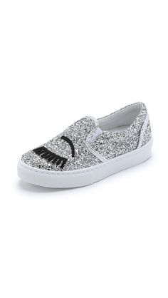 Chiara Ferragni Glitter Eyes Slip On Sneakers