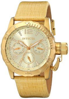Invicta Women's 14797 Corduba Analog Display Swiss Quartz Beige Watch.  Bringing you the best luxury watches online at the most affordable prices for premium brand name watches: http://www.bestwatches1st.com/#!invicta-corduba-watch-collection/mvf41