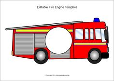 Editable fire engine template (SB10321) - SparkleBox