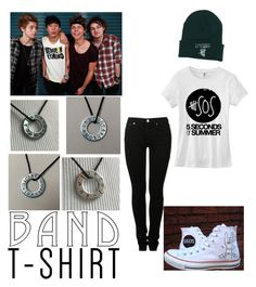 """""""5sos"""" by californiahesperia ❤ liked on Polyvore featuring MM6 Maison Margiela, Converse, bandtshirt and bandtee"""