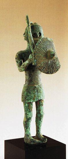 Guerriero sardo, VII-VI a.C. Cultura italica