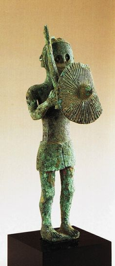 Sardinian bronze warrior C.700BC