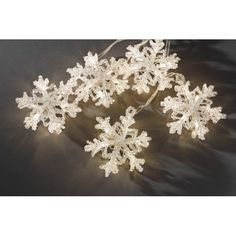 Konstsmide Set of 10 Snowflake Lights with 60 Warm White LED's