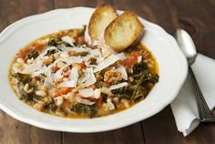 Jennifer offers this stick-to-your-ribs recipe for cannellini bean, kale, and sausage stew. Be sure to serve with bread, so you can sop up every last bite!