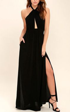 Watch Me Black Maxi Dress via @bestmaxidress