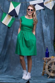 Nixie Dress Green