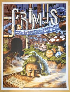 "Primus w/ the Fungi Ensemble - silkscreen concert poster (click image for more detail) Artist: Jason Edmiston Venue: Civic Theatre Location: New Orleans, LA Concert Date: 5/2/2015 Size: 18"" x 24"" Edit"