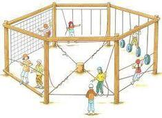 Kids Playground Equipment – Playground Fun For Kids Kids Outdoor Play, Kids Play Area, Backyard For Kids, Backyard Playground, Backyard Games, Backyard Projects, Playground Ideas, Backyard Obstacle Course, Outdoor Classroom