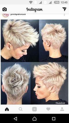 Hairstyles for short hair Neuste Kurzhaar Frisuren - Últimos penteados curtos - Latest Short Hairstyles, Pixie Hairstyles, Pretty Hairstyles, Hairstyle Ideas, Bridal Hairstyle, Asymmetrical Hairstyles, Short Girl Hairstyles, Edgy Pixie Haircuts, Casual Hairstyles