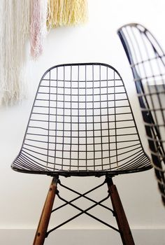 Eames wire chair with knockoff dowel base from Modern Conscience