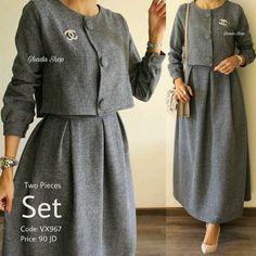 Dress designer casual classy ideas for 2019 Abaya Fashion, Muslim Fashion, Modest Fashion, Fashion Dresses, Classy Fashion, Work Fashion, Fashion Ideas, Modest Dresses, Nice Dresses