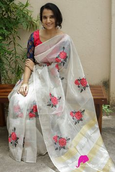 Cotton Saree Designs, Pattu Saree Blouse Designs, Fancy Blouse Designs, Blouse Neck Designs, Bridal Silk Saree, Organza Saree, Cotton Sarees Online Shopping, Saree Models, Elegant Saree