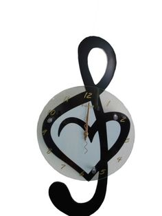 I love music, and if I were to ever get a tattoo, which I probably wont, but IF I DID, it would look something like this (minus the clock of course)