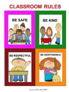 be safe, be respectful, be responsible - poster: student responsibilities, teacher responsibilities. go back to this but categorize under those school rules Classroom Labels, Classroom Organisation, Classroom Behavior, Classroom Rules, Classroom Management, Behaviour Management, Class Management, Organization, Kindergarten First Week