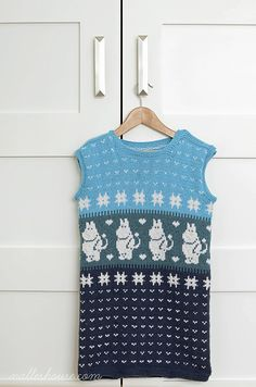 Hoping to use the moomin chart from this KNIT MUUMI SLEEP SACK for a sock project