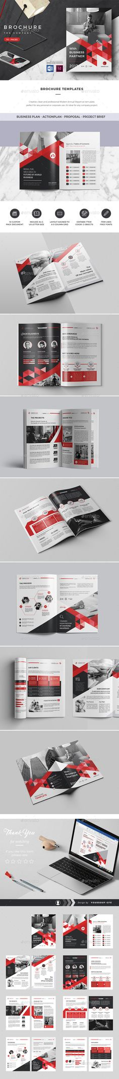 Brochure Templates — InDesign INDD #trading #clean • Download ➝ https://graphicriver.net/item/brochure-templates/20495589?ref=pxcr