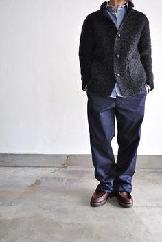 COMME des GARCONS HOMME/コムデギャルソン オム 紡毛ガーター手編み Stylish Men Over 50, Kanye West Style, Winter Fashion Casual, Socrates, Lakme Fashion Week, Black Women Fashion, Knit Jacket, Japan Fashion, Vintage Denim