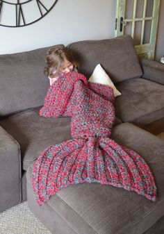 We Need This Crocheted Mermaid Tail Blanket Immediately - CountryLiving.com