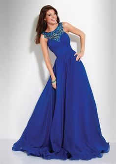 2013 Vintage Western A Line Jewel Royal Blue Beads Floor Length Low Back Evening Dresses Prom Gowns Online with $103.8/Piece on Dress_home's Store | DHgate.com