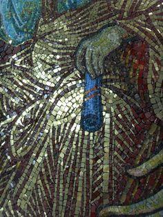 """Εικόνα Παναγία η Πορταϊτισσα των Ιβήρων. Φορητή ψηφιδωτή εικόνα 93x65 cm. Panagia Portaitissa. Mosaic icon 93x65 cm. Мозаичная икона """"Иверская икона Божией Матери"""" (Вратарница). Мозаичная икона, размер 65х97 см. Panagia Portaitissa. Icône de mosaïque portative """"Marie Porte du Ciel""""(Panagia Portaitissa, Iverskaya Portaitissa, Notre-Dame-des-Ibères) Местонахождение: с.Бритовка, Белгород-Днестровский р-н, Одесская обл., Украина. Mosaic Icon Studio """"Byzantica"""" 2011 Ciel, Notre Dame, City Photo, Journal, Studio, Byzantine, Study, Journals, Studying"""