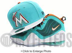 Miami Marlins Filament Glacial White Jet Black Orangeade New Era Hat