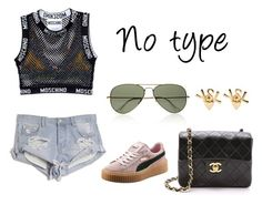 """No type"" by anaelle2 ❤ liked on Polyvore featuring kiini, One Teaspoon, Moschino, Puma, Yves Saint Laurent and Ray-Ban"