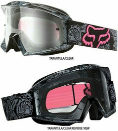 Fox Racing Main Tarantula Women's Goggles « Motorcycle Rider Gear Orange County Street Sport Dirt Offroad ATV Parts, Gear & Accessories Mine ❤ Motocross Girls, Motocross Gear, Atv Gear, Dirt Bike Girl, Atv Riding, Riding Gear, Atv Accessories, Pt Cruiser, Fox Racing
