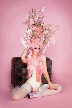 Marie Antoinette wig - I feel like there's no way this is staying on anyone's head.