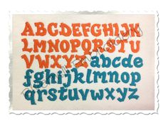 Hipster Machine Embroidery Font Monogram Alphabet - 3 Sizes by RivermillEmbroidery on Etsy (null)