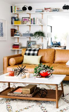 SVEN 'Charme Tan' sofa (via Cup of Jo)