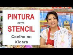 PROJETO | PINTURA COM STENCIL - COELHO NA XÍCARA | 10.03.17 | MAYUMI TAKUSHI - YouTube
