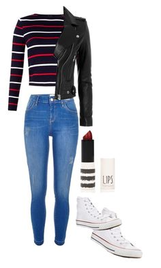 """""""Untitled #194"""" by nowheregirl457 on Polyvore featuring River Island, Converse, IRO and Topshop"""
