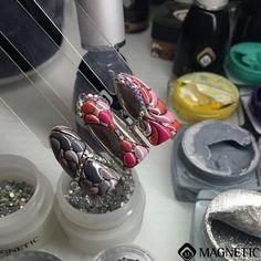 One Coat Color Gel, Magnetic Nails, Maga Nails, Albina Maria, Nail Art, 3D
