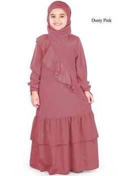 Muslim Women Fashion, Islamic Fashion, Little Girl Fashion, Kids Fashion, Kids Abaya, Hijab Style Dress, Abaya Style, Modest Outfits, Kids Outfits