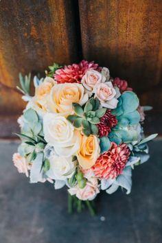 Inspired Weddings A bouquet of desert blooms and succulents.waysA bouquet of desert blooms and succulents. Summer Wedding, Our Wedding, Dream Wedding, Wedding Dreams, Wedding Stuff, Wild West Wedding, Wedding Bouquets, Wedding Flowers, Flower Bouquets