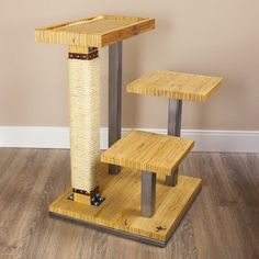 Cat tree has three pods by HUVE collection sold in the – Fournitures pour animaux Wood Baby Gym, Diy Cat Tower, Cat Gym, Cat Flats, Bois Diy, Cat Condo, Pet Furniture, Scratching Post, Cats And Kittens