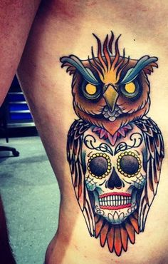owl-and-skull tattoo-41