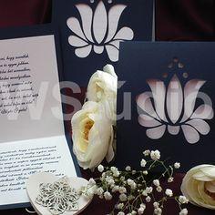 Magyaros esküvői meghívó kalocsai mintával