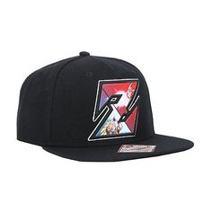 Dragon Ball Z Patch Snapback Hat Hot Topic ($19) ❤ liked on Polyvore featuring accessories, hats, snapback hats, adjustable snapback hats, print hats, adjustable hats and black hat