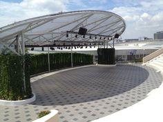 outdoor amphitheater - Google Search Theater Architecture, Space Architecture, Theatre Design, Stage Design, Outdoor Venues, Outdoor Decor, Tensile Structures, Outdoor Theater, Dance Studio